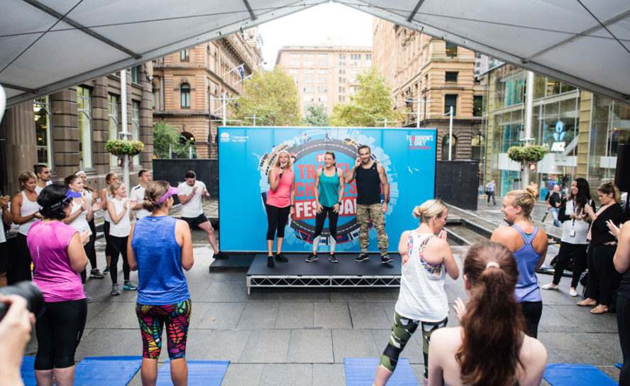 Encouraging Sydney commuters to get fit on their way to work